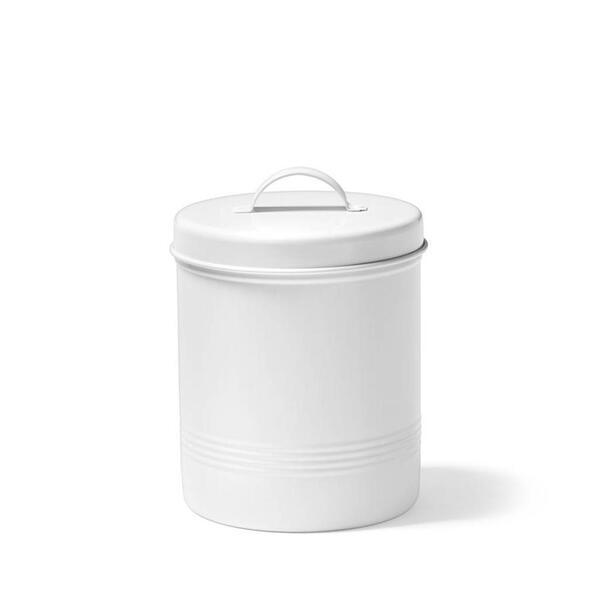 White metal food container 1.6 Litres